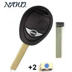 Coque de clé plip 2 boutons pour télécommande Mini Cooper S D One Clubman