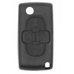 Coque clé plip 4 boutons Peugeot 807 1007 CE0523 +4 boutons switch à souder