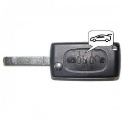 Coque clé plip 3 boutons Citroen C1 C2 C3 C4 C5 C8 Evasion CE0523