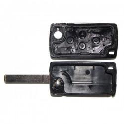 Coque clé plip 4 boutons Peugeot 807 1007 CE0523