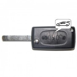 Coque clé plip 3 boutons Citroen C1 C2 C3 C4 C5 C8 Evasion CE0536