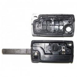Coque clé plip 2 boutons Citroen C1 C2 C3 C4 C5 C8 Evasion CE0536