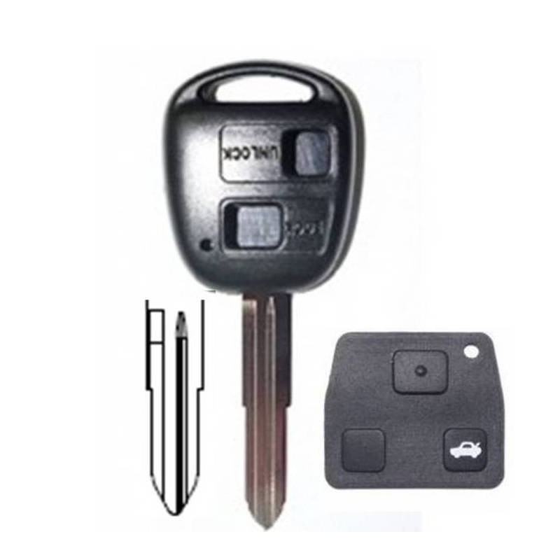 Coque clé Toyota/ Land cruiser 2 boutons TOYOTA Corolla, Celica, Rav4, Yaris Avensis
