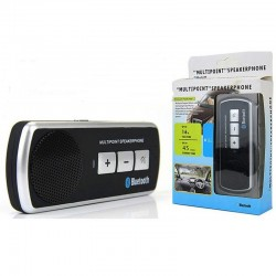 Kit Main-Libre Haut-parleur Voiture Auto Sans Fil Bluetooth Smartphone Mobile